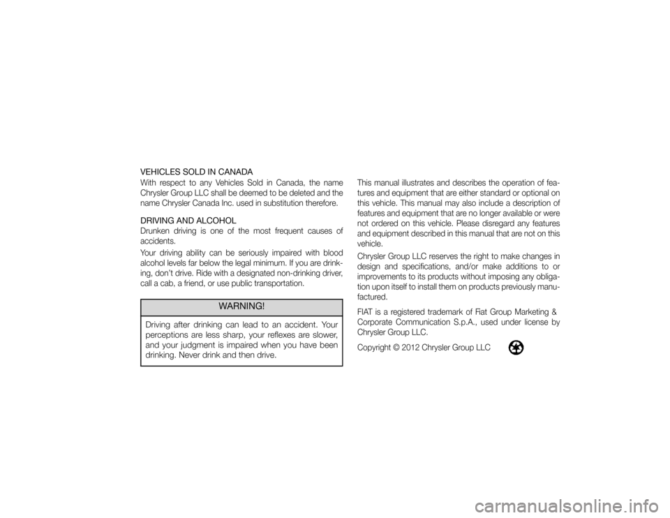 2013 fiat 500c owners manual
