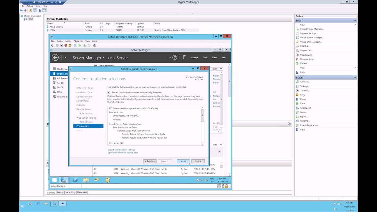 manual removal rras services from server 2012