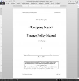 sales policies and procedures manual template