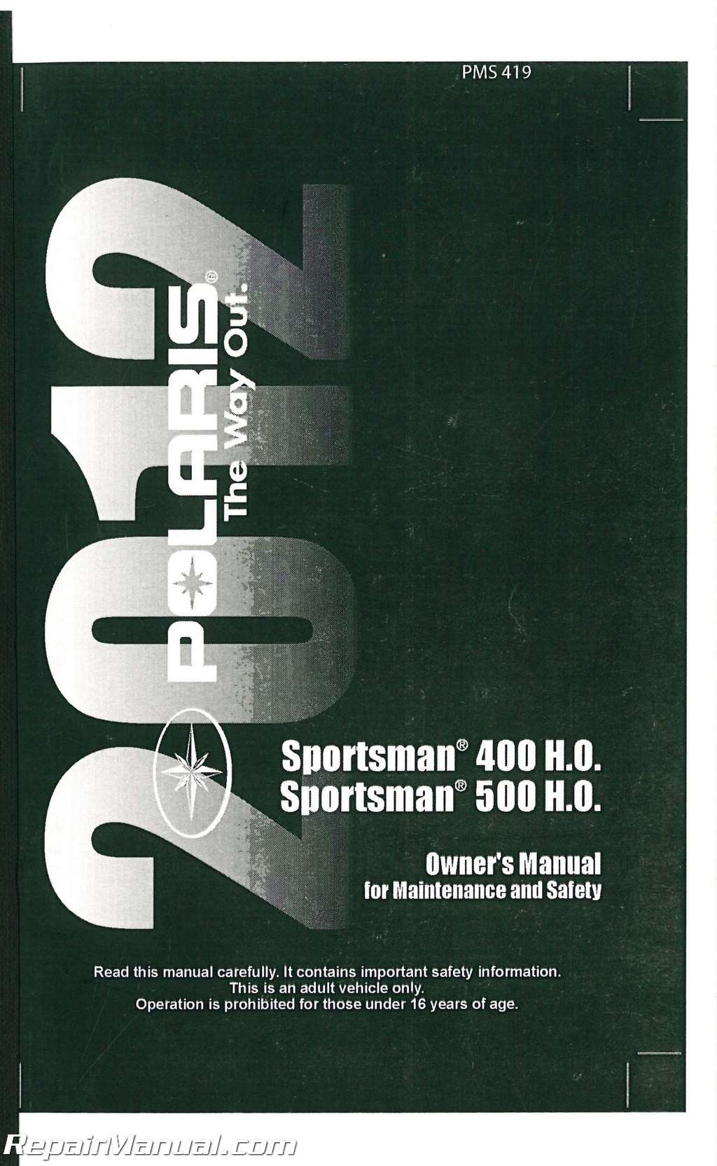 2012 polaris ranger 500 manual