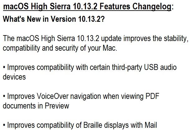 macos high sierra manual download