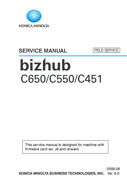bizhub c451 service manual pdf
