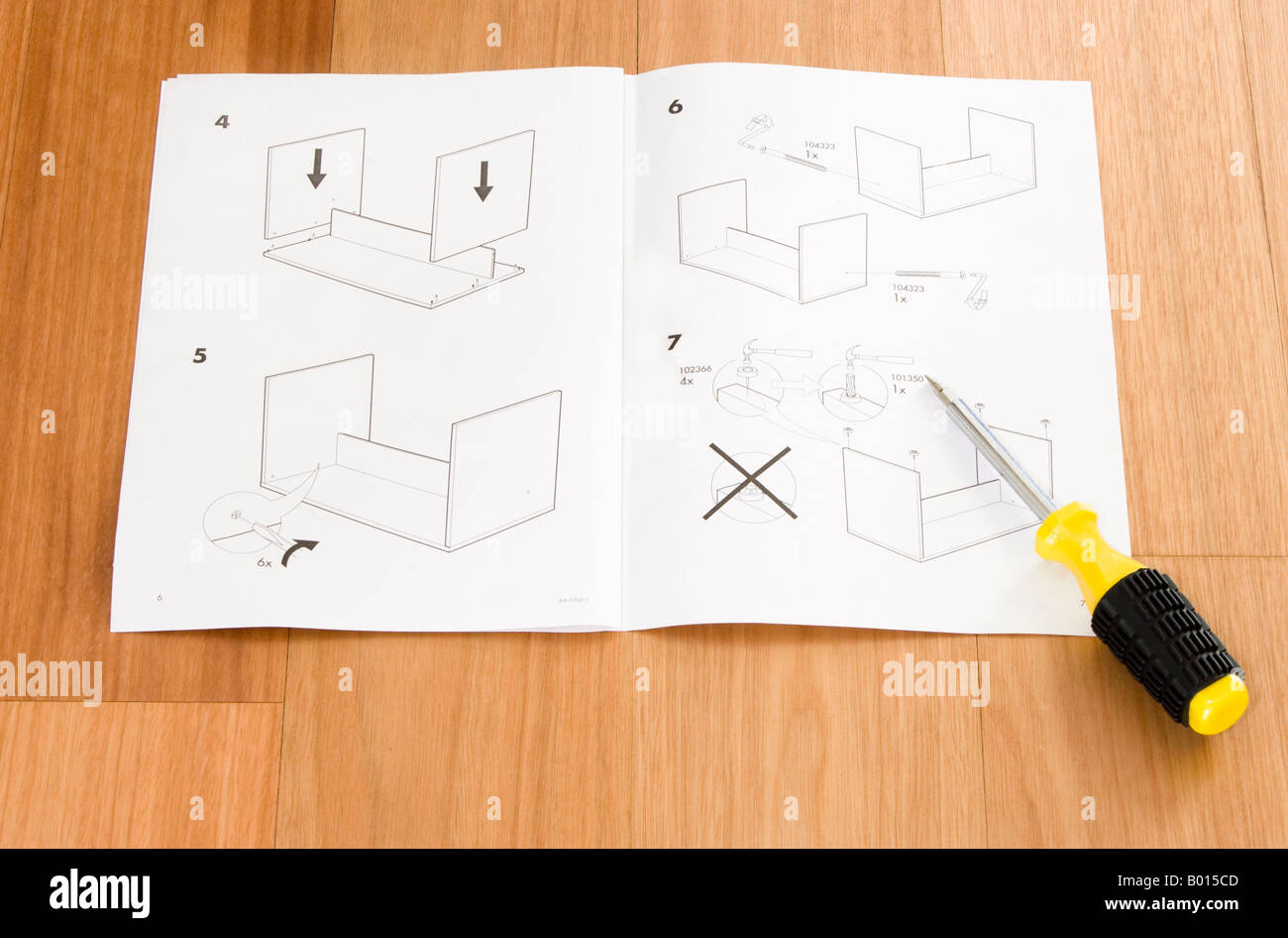 instruction manual to build table