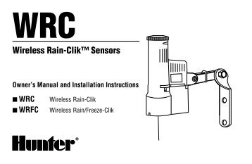 hunter clik weather sensor manual
