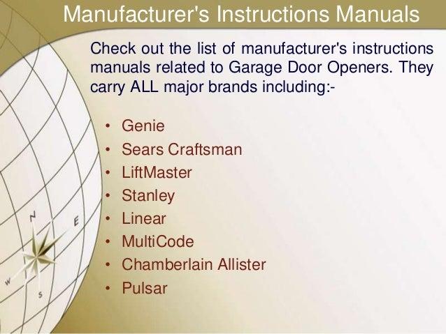 python garage door opener manual