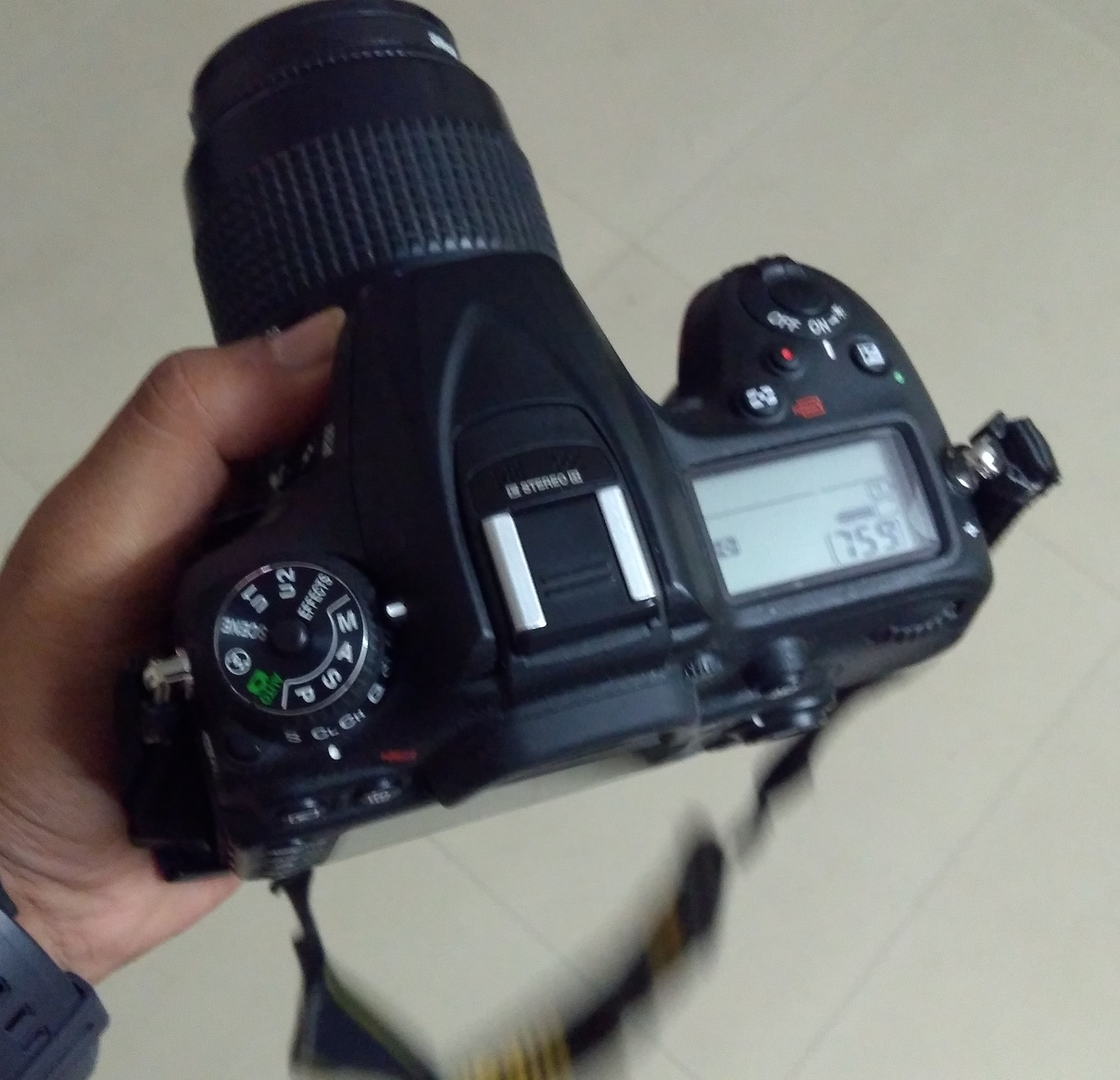 using manual for long exposure