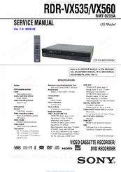 sony recorder 135 927 manual