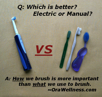 is manual or electric toothbrush better