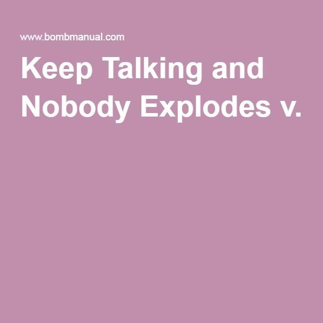 bomb defusual manual keep talking and no-one explodes
