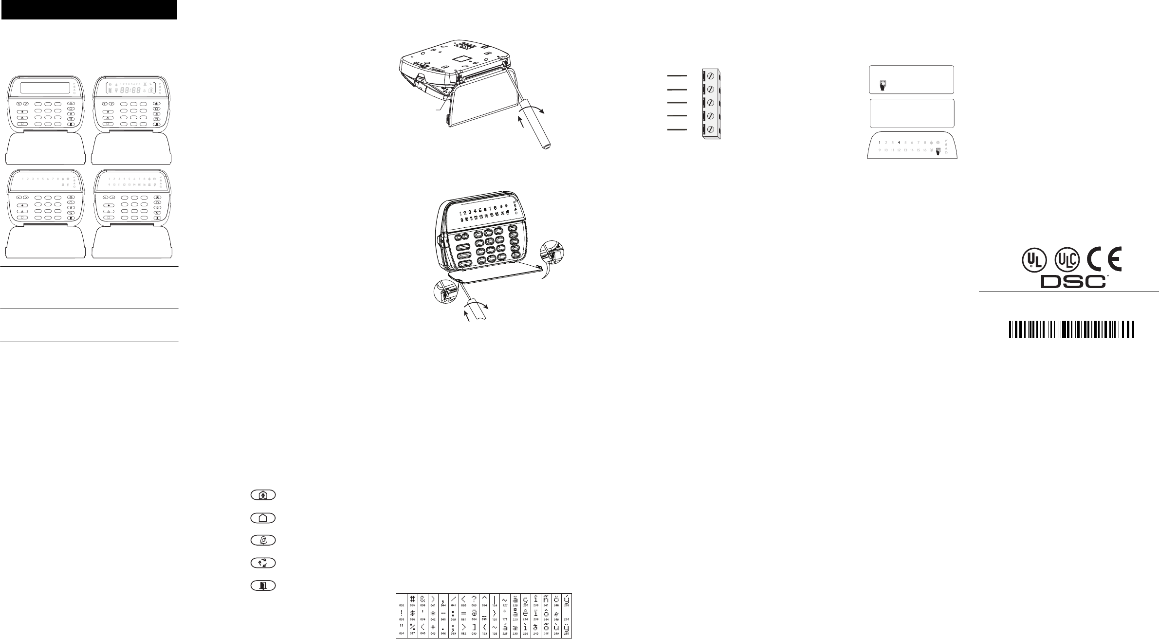 dsc keypad pk5501 user manual
