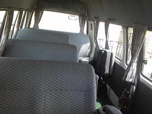 hiace manual commuter van inside