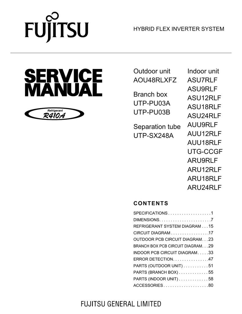 fuji air conditioner ardjv manual download