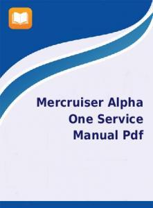 mercruiser 4.3 lx v6 alpha one manual
