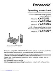 panasonic 5.8 ghz cordless phone answering machine manual