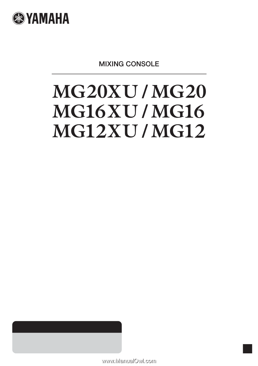 yamaha mg 32 user manual